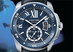 Часы Cartier Calibre de Cartier Diver Blue