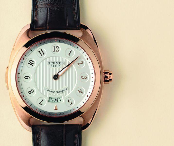 Hermes Dressage L'heure Masquee с модулем исчезающей часовой стрелки
