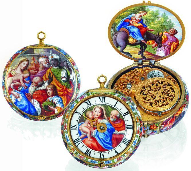 Однострелочные часы голландского мастера Du Quesne