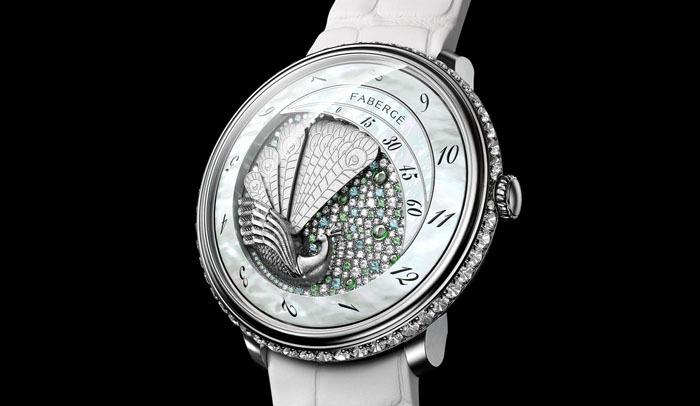 Лучшие сложные дамские часы: Lady Compliquee Peacock от Faberge
