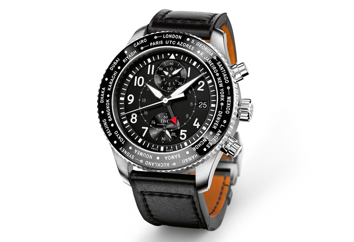 IWC Pilot's Watch Timezoner Chronograph в стальном корпусе 45 мм