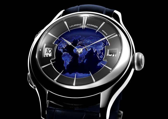 Laurent Ferrier Galet Traveller Globe Night Blue со вторым часовым поясом