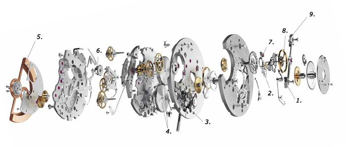 Схема калибра МВ R230