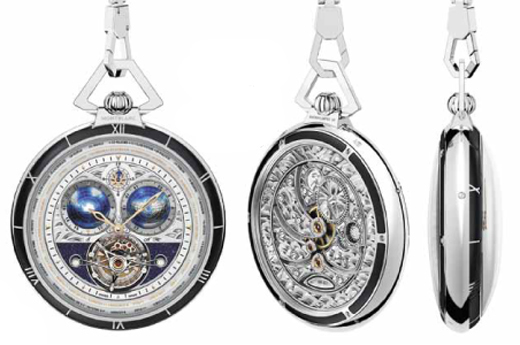 Montblanc Collection Villeret Tourbillon Cylindrique Pocket Watch 110 Years
