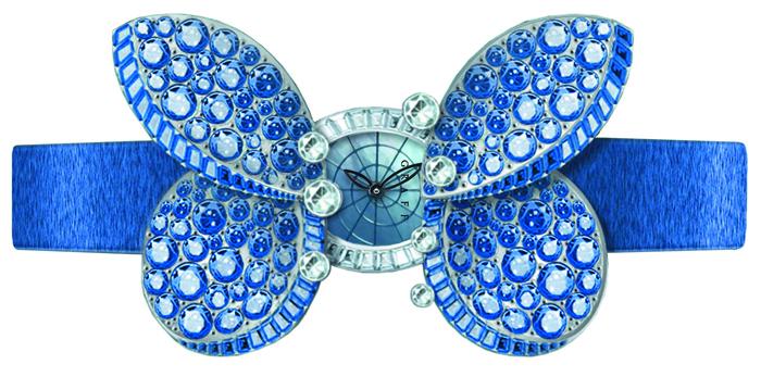 Graff Princess Butterfly в корпусе 17 мм из бриллиантов и перламутра с крыльями из сапфиров
