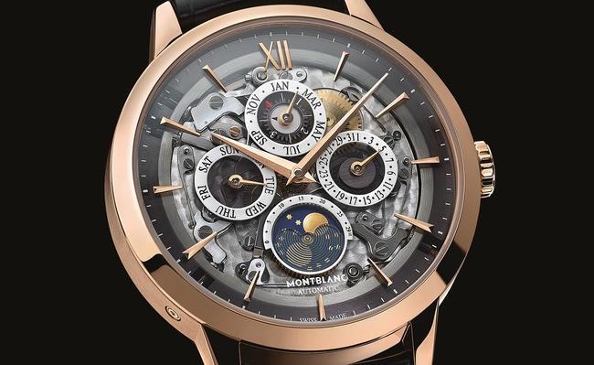 Часы Montblanc Heritage Spirit Perpetual Calendar Sapphire