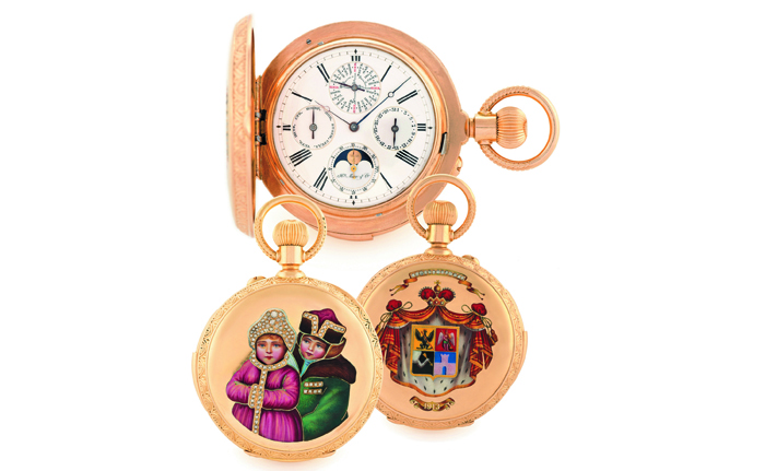Н. Moser & Cie, вечный календарь Les Enfants Russes