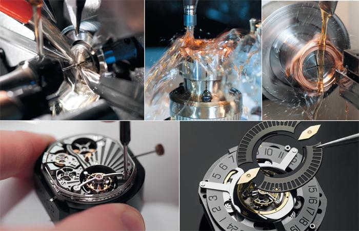 Четыре собственных производства: механизмов, корпусов, браслетов, циферблатов