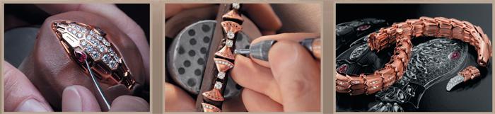 Serpenti Jewellery декорированный 6 бриллиантами