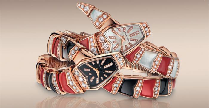 Serpenti Jewellery, изогнутый корпус 26 мм из розового золота