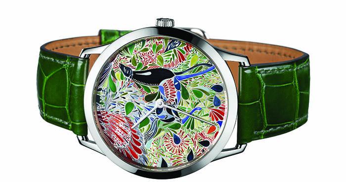 Часы Hermes Slim d'Hermes Mille Fleurs du Mexique