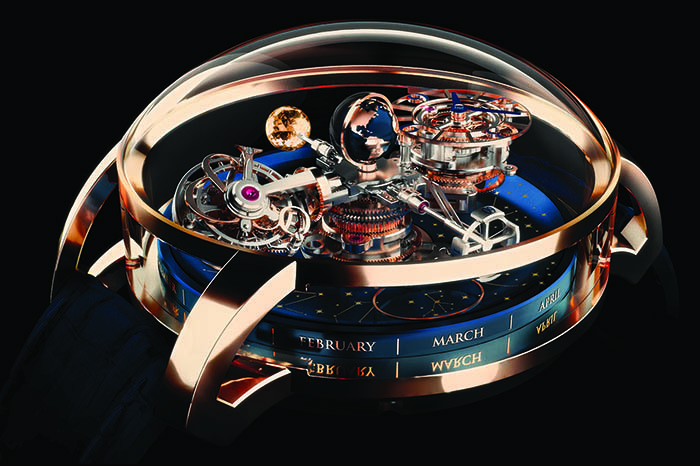 Часы Jacob & Co Astronomia Sky Celestial Panorama Gravitational Triple Axis Tourbillon