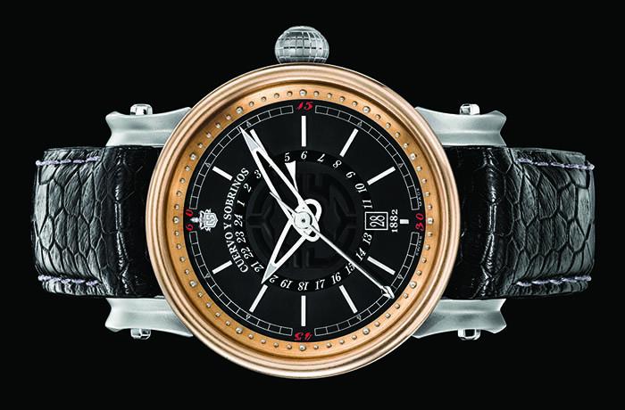 Часы Cuervo y Sobrinos Torpedo Pirata GMT