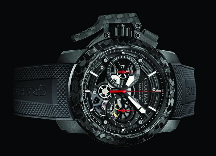 Часы Graham Chronofighter Superlight Carbon Skeleton