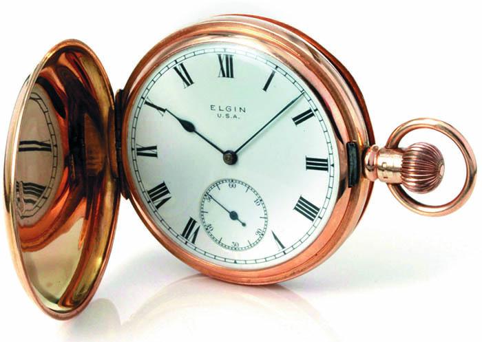 Elgin, карманные часы из золота 15 карат, 1916 г