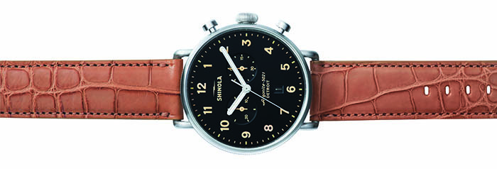 Shinola Canfield Chrono в корпусе 43 мм