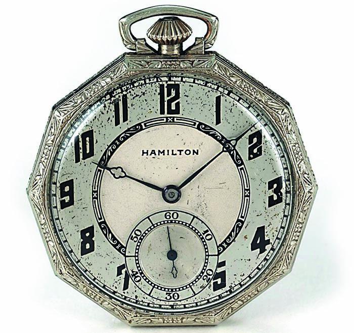 Hamilton, карманные часы, 1915 г.