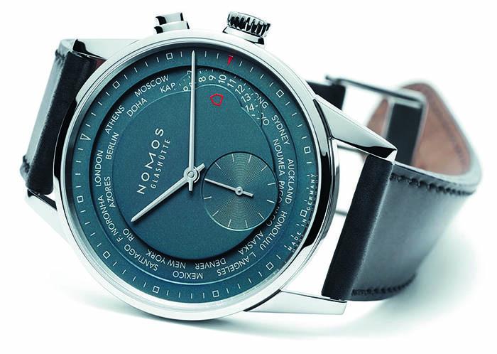Nomos Zurich Worldtimer True Blue с автоматическим калибром DUW5201