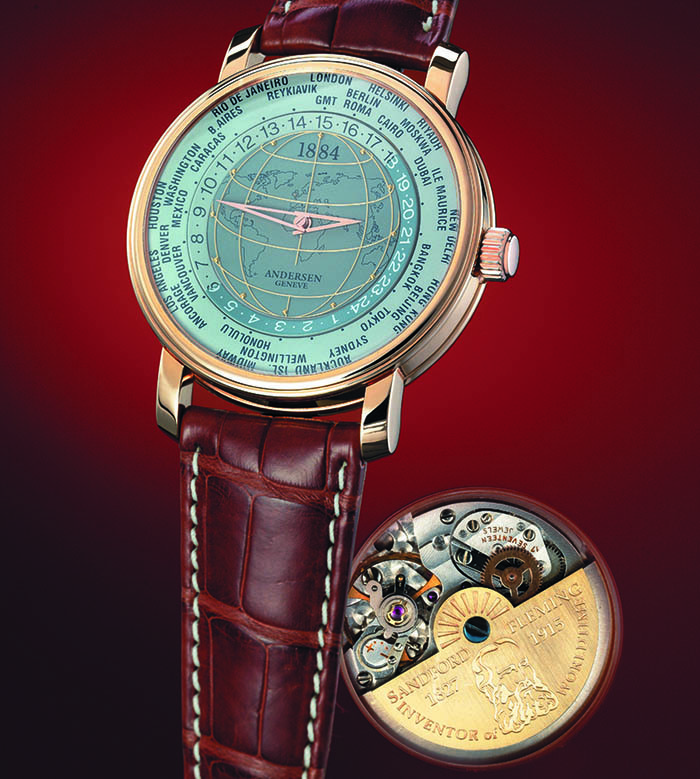 Часы Andersen Geneve 1884 World Time Watch