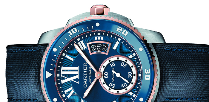 Часы Calibre de Cartier Diver Blue