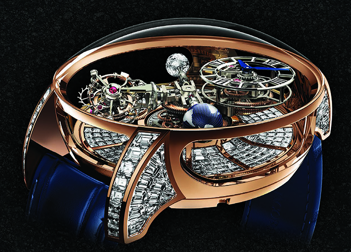 Jacob & Co. Astronomia Tourbillon Baguette с калибром JCEM01