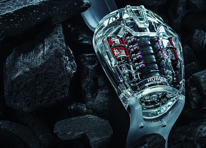 Часы Hublot MP-05 LaFerrari Sapphire с калибром HUB9005.H1.PN.1