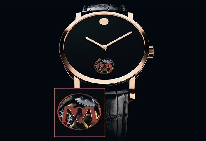Часы Museum Rose gold Skeleton Dot
