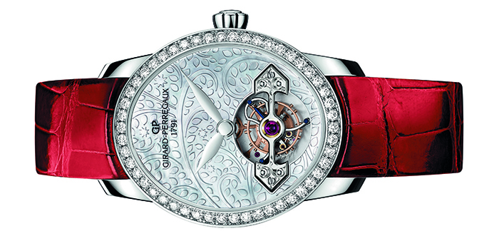 Часы Cat's Eye Tourbillon with Gold Bridge Girard-Perregaux