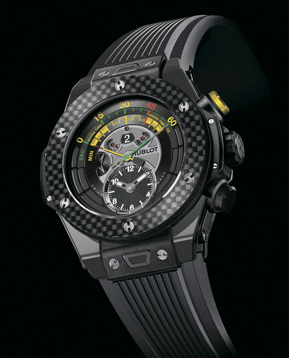 Часы Hublot Big Bang Unico Bi-Retrograde Chrono King Gold Carbon
