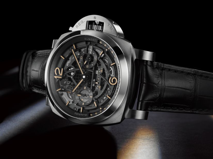 Часы Officine Panerai L'Astronomo Luminor 1950 Tourbillon Moon Phases Equation of Time GMT
