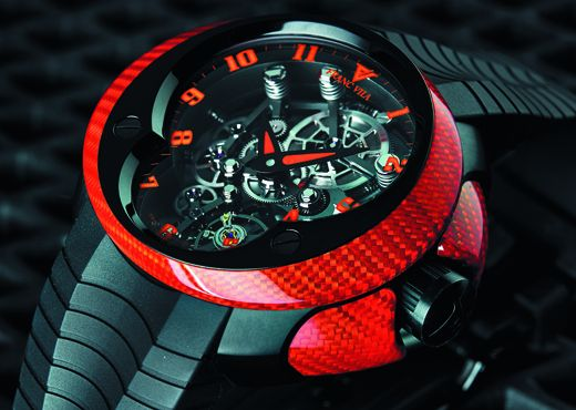 Часы Franc Vila Cobra Skeleton Suspended Red
