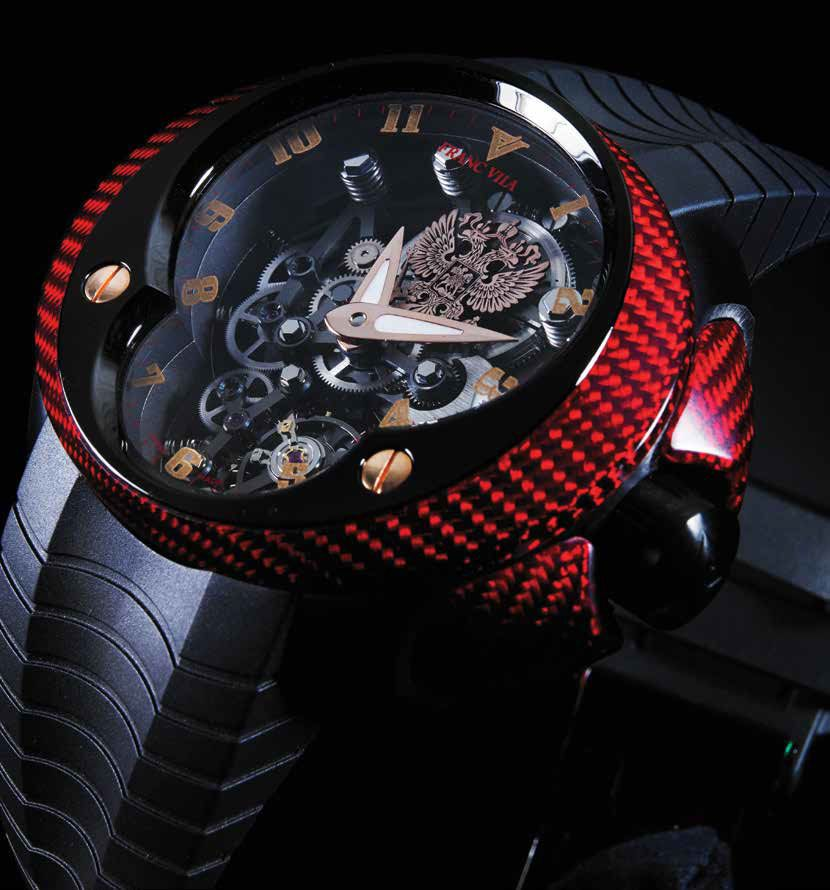 Часы Franc Vila Cobra Skeleton Suspended Red Rich Time