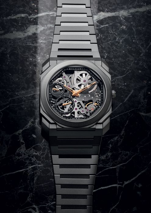 Часы Bvlgari Octo Finissimo Skeleton Black Edition