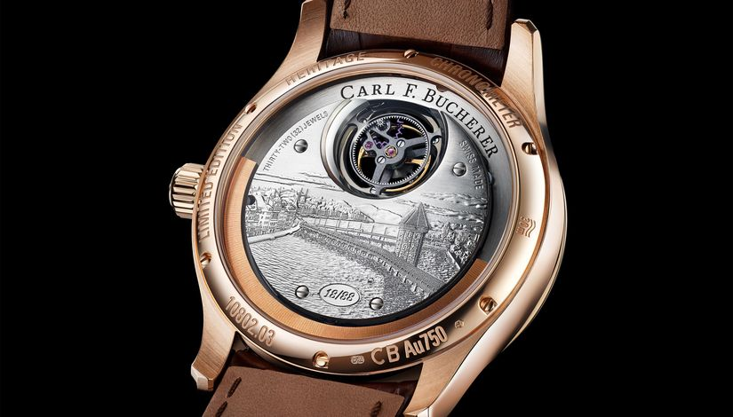 Часы Carl F. Bucherer Heritage Tourbillon Double Peripheral Limited Edition