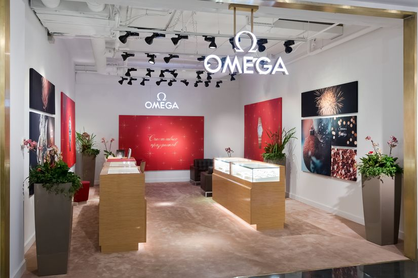 Pop-Up Boutique часов Omega в Санкт-Петербурге