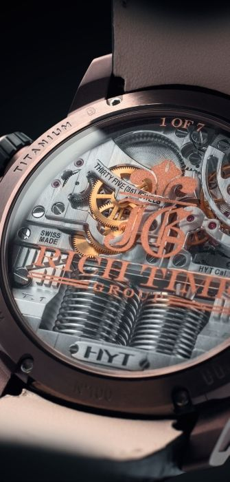 Часы HYT H1 Rich Time Edition Black Fluid