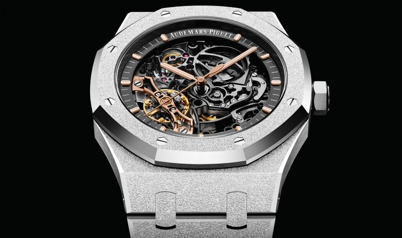 Скелетон Audemars Piguet Frosted Gold