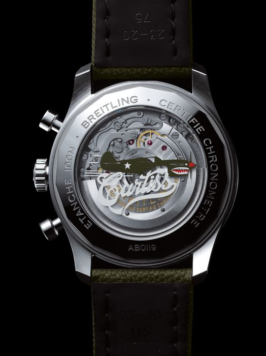 Часы Breitling Aviator 8 B01 Chronograph 43 Curtiss Warhawk