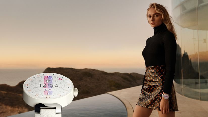 Sophie Turner choose Louis Vuitton watches