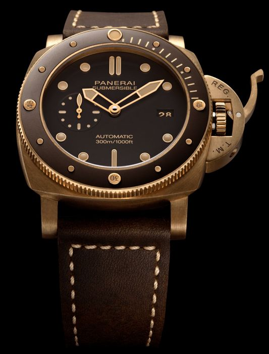 Часы Panerai Submersible Bronzo