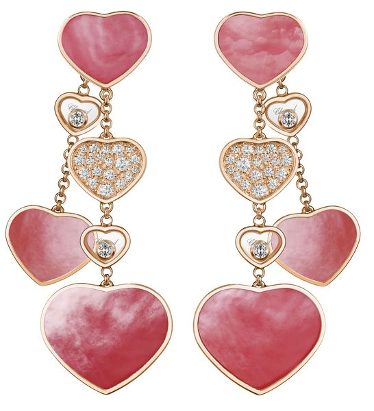 Серьги Chopard Happy Hearts Naked Hearts