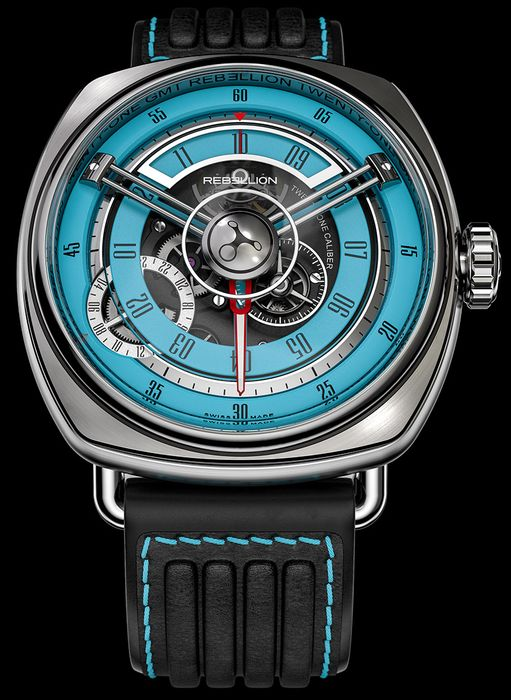 Часы Rebellion Twenty-One GMT Turquoise