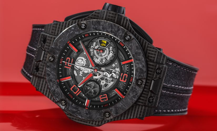 Часы Hublot Big Bang Scuderia Ferrari 90th Anniversary 3D Carbon