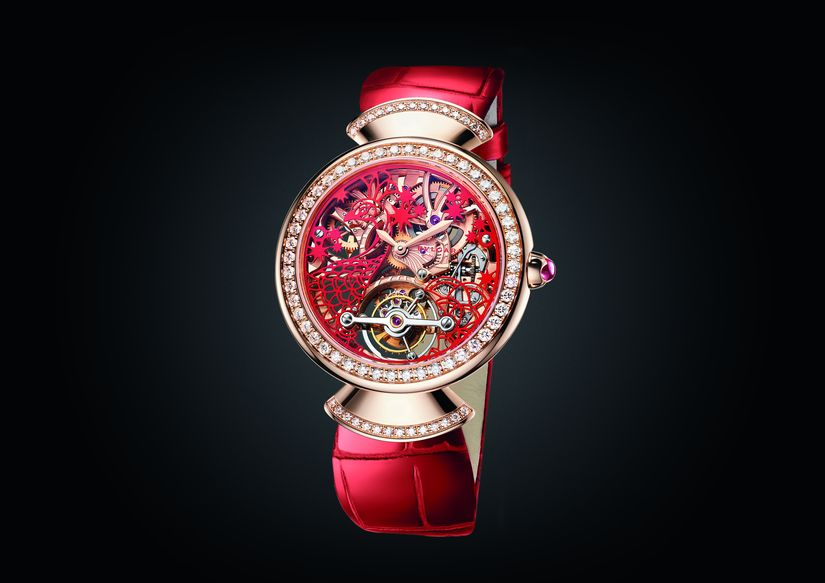 Часы Bvlgari Divas' Dream Peacock Paper Cut Dial Greater China Edition
