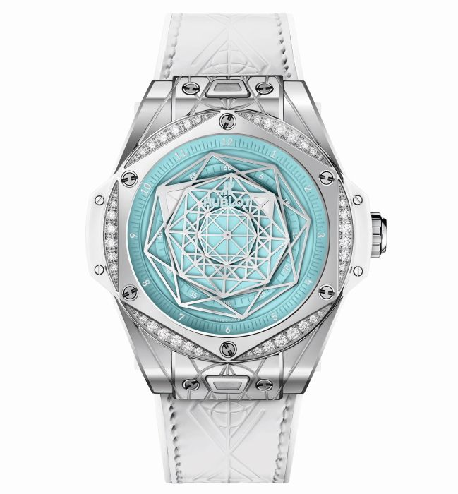 Часы Hublot Big Bang One Click Sang Bleu Steel Turquoise
