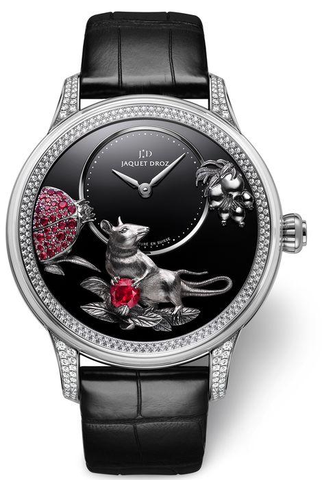 Jaquet Droz. Часы с изображением символа 2020 года
