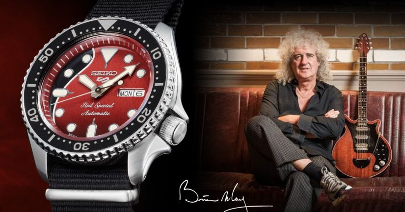 Брайан Мэй и часы Seiko 5 Sports
