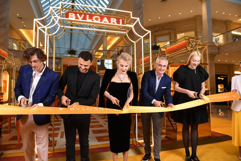 Открытие поп-ап бутика Bvlgari в «Крокус Сити Молле»