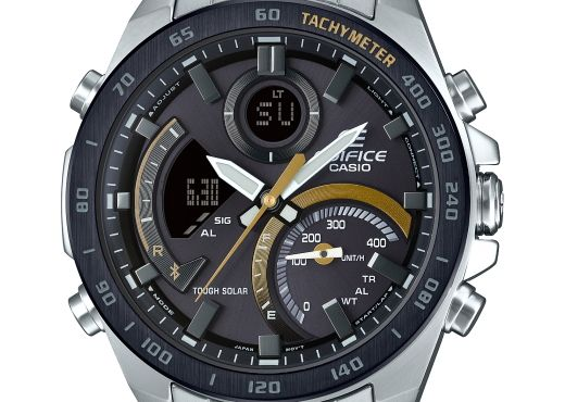 Стальные Casio Edifice с горчичными акцентами