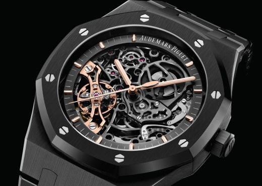 Audemars Piguet Royal Oak Double Balance Wheel Openworked в черном
